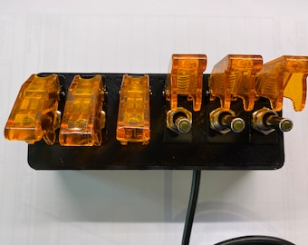 Six toggle switch box for use with Neptune Systems Apex Aquarium Controller