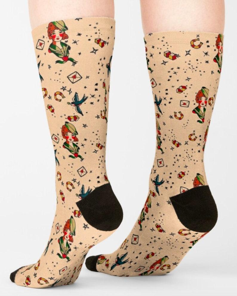 Witchy, Socks Unisex Sailor Tattoo