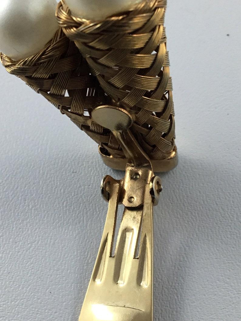 Vintage mid century  costume woven metal  jewelry set