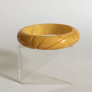 Art Deco Brown Bakelite Bangle Cuff Bracelet Simichrome tested Vintage Jewelry ca 1930s Collectable Birthday Gift for Her Rockabilly