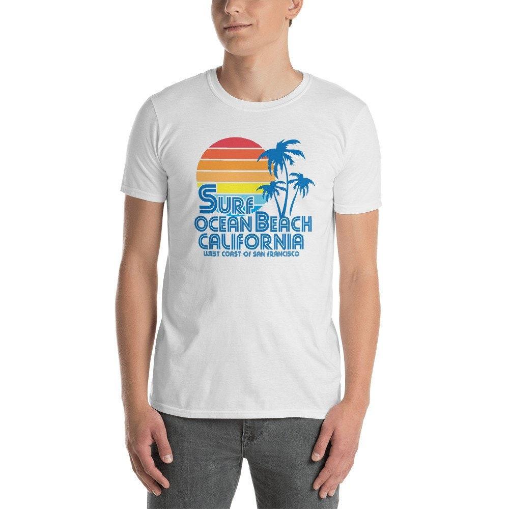 Surf océan plage Californie plage courtes chemise manches courtes plage T- Shirt unisexe 48dad6 8b84de57efd