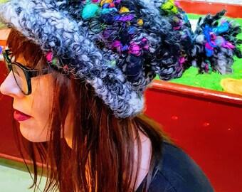 8c6ff080cc4 Super Slouchy alpaca and handspun wool supersoft cozy hat. Alternative  fashion
