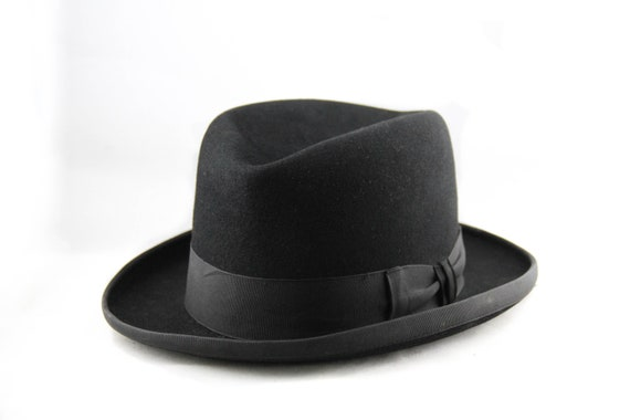 Deluxe Homburg Fedora in Bordeaux with Black Band