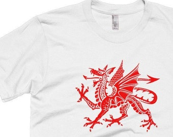077b87579738 Welsh Dragon Shirt Wales Rugby Shirt Welsh Flag Wales Flag Shirt Red Dragon  T Shirt Welsh Gifts Cymru Great Britain UK Shirt United Kingdom