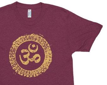 c9b6db153 Mens Om Symbol Yoga Shirts Unisex Triblend Slim Fit Yoga T Shirts for Men  Festival Shirt Meditation Mantra Hindu Spiritual Buddha Shirt Gift