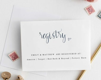 Registry A note on gifts For a girl For a boy Wishing Well Card Registry Card INSTANT DOWNLOAD  Editable pdf Template Gender Neutral