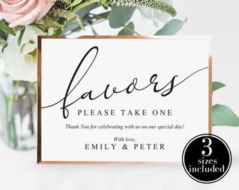 Baby shower favors sign Printable favors Sign pink burgundy yellow floral wedding Favors table sign download Bridal shower sign decor