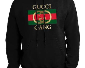 8f0e51cb804 GUCCI GANG Mens handmade Sweatshirt Hoodie