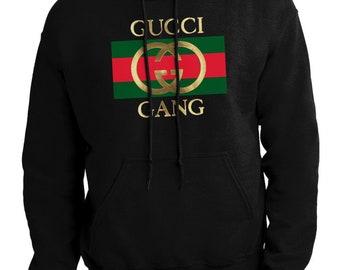 b49dc1ecc746 GUCCI GANG Mens handmade Sweatshirt Hoodie