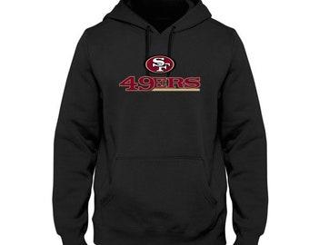San Francisco 49ers Men s Logo Hoodie Handmade Sweatshirt 7c4d46089