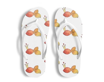 72554fc36 Gold Fish Bathroom Wear Shower Gift Flip Flops Women Slippers Sandals  Swimming Pool Shoes Flip Flops Men Home Wear Beach Wear Beach Shoes
