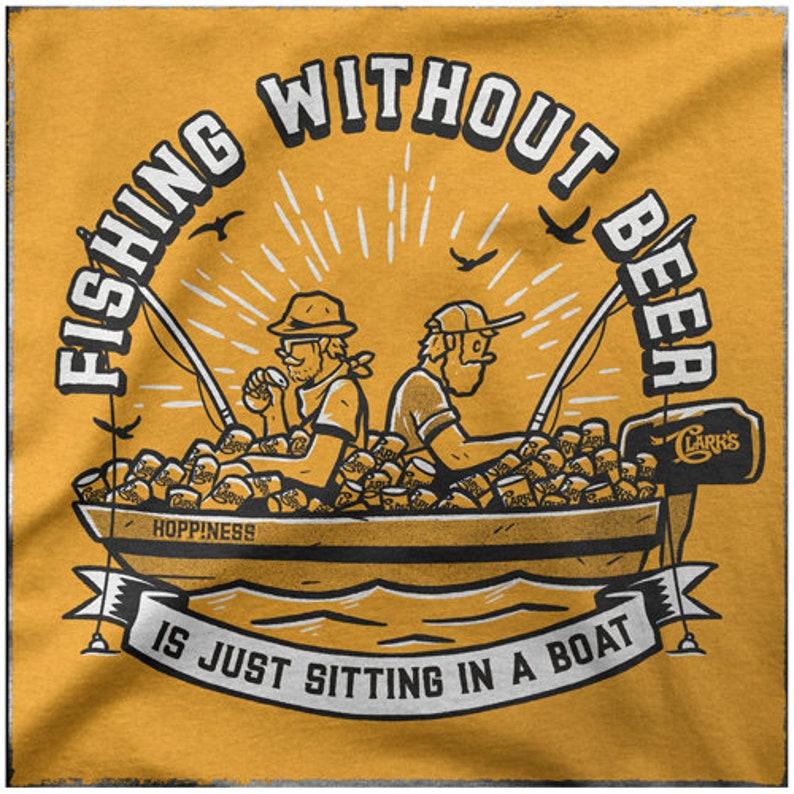 Fishing T Shirt Fishing without Craft Beer Mens Graphic Funny Fish Vintage Tee Fish Shirt Beer Lovers Tshirt Fisherman Apparel