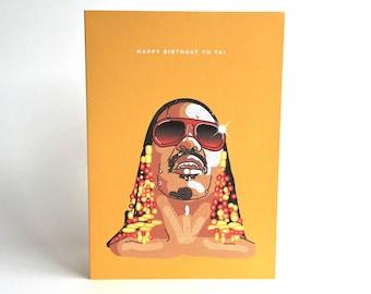 STEVIE WONDER 'Happy Birthday To Ya!' Greetings Card