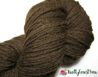 Pure Wool Yarn HELIOTROPE DEEP PURPLE Deluxe Worsted by Universal Yarn 220yd