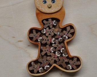Gingerbread Man Puzzle Box
