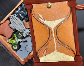 """Hour Glass Puzzle Box-""""Travel in Time"""""""