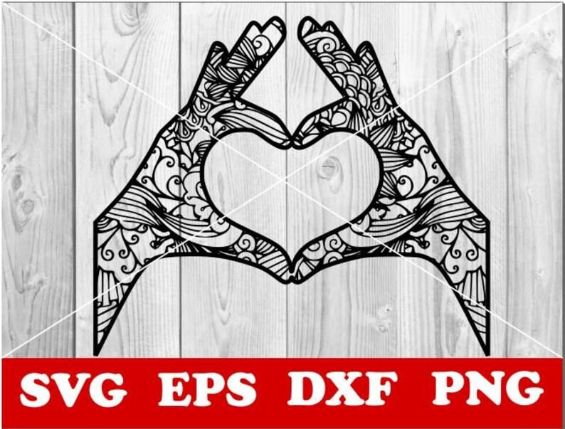 Download Love svg Love Mandala Svg Love Zentangle SVG Mandala svg | Etsy