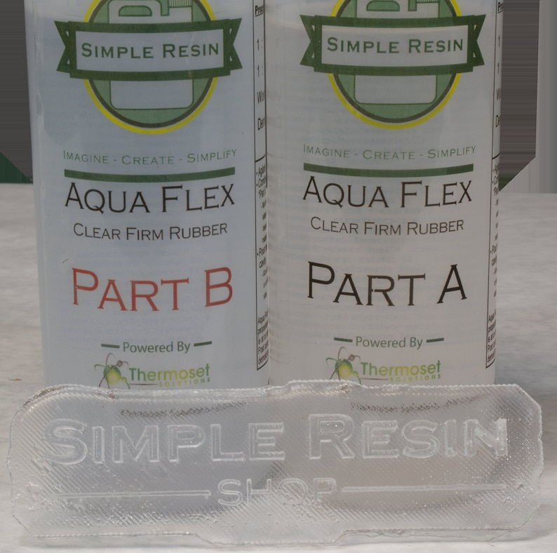 Aqua Flex (1 lb kit) - Clear Rubber Casting Resin - Rubber Feel - Water  Clear