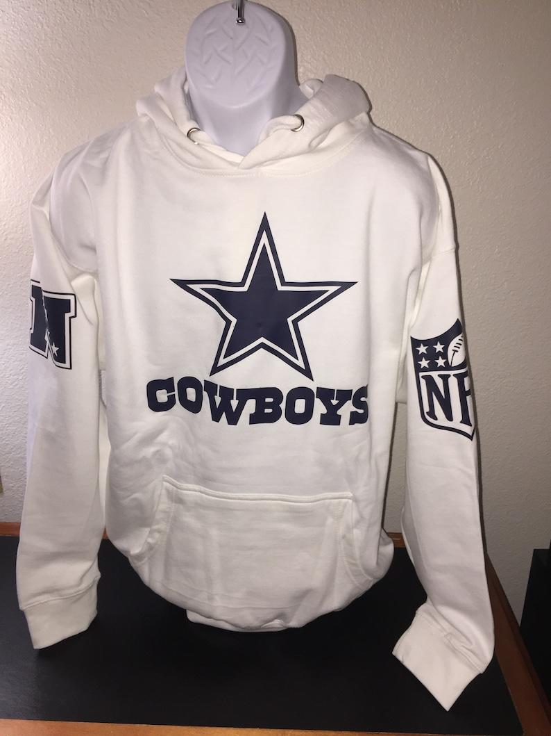 new style f3294 cd9f0 Dallas Cowboys White Hoodie