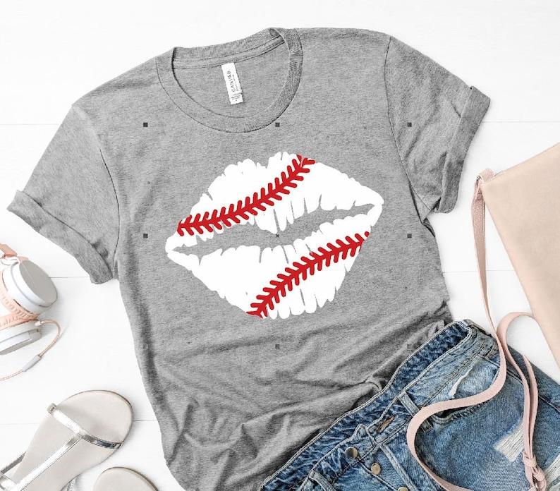 Baseball lips iron on transfer Baseball lips HTV transfer or sublimation transfer DIY t-shirt transfer