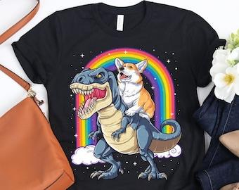 Corgi Dinosaur T rex Shirt / Corgi Shirt / Dinosaur T-rex / Corgi Gifts / Funny Cute Corgis / Corgi Lover Gift / Tank Top Hoodie