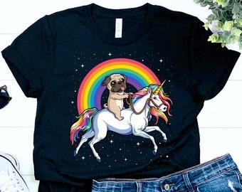 e81a19ef Pug Riding Unicorn / Pug Shirt / Pug Gifts / Pugs / Pug Dog / Pug Lover / Pug  Tshirt / Funny Pug / Pugicorn / Unicorn Shirt /Tank Top Hoodie