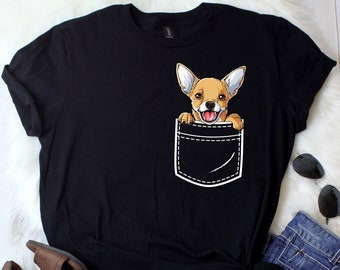 54ef9f465bdc Chihuahua In Your Front Pocket / Chihuahua Shirt / Chihuahua Gifts /  Chihuahuas / Chihuahua Lover / Chihuahua Tshirt / Tank Top / Hoodie