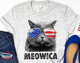 Meowica Patriotic Cat Bodysuit My 1st 4th of July Onesies\u00ae Baby/'s Independence Day Outfit Gender Neutral Baby Shower Gifts Newborn Shirt