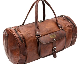 Vintage Leather Duffel Travel Gym Sports Overnight Weekend Duffel Bag    leather duffel bag  Rustic Distressed Duffel Bag Overnight Bag 9f8544d6df0c9