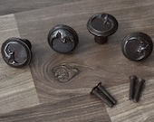 Vintage cast iron cabinet drawer door Moon Face knobs handles pull rustic 4 pcs