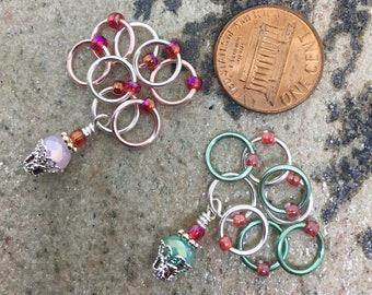 Silver Cupcake Knitting Stitch Marker Set