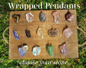 Wire Wrapped Pendants