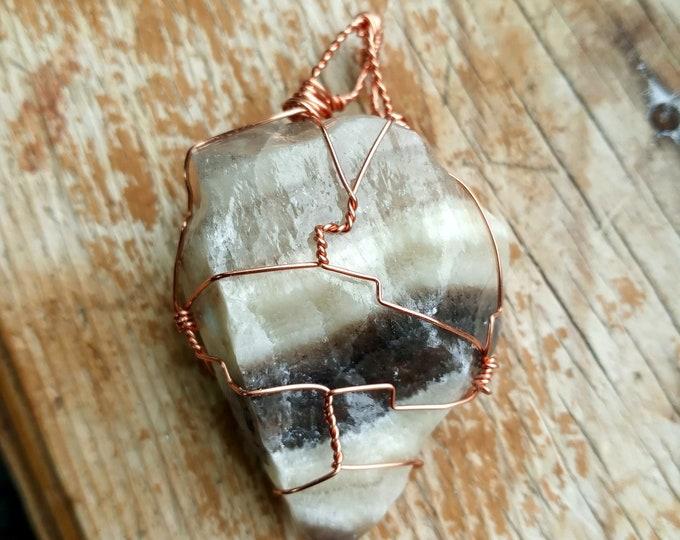 Zebra Calcite necklace