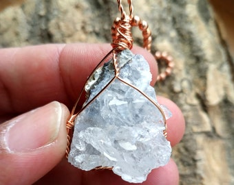 Quartz geode Necklace