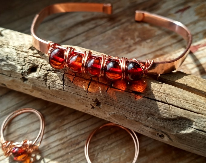 Baltic Amber Bracelet & Ring Set