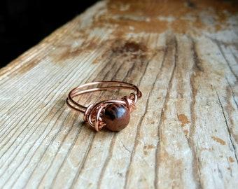 Mahogany Obsidian Ring