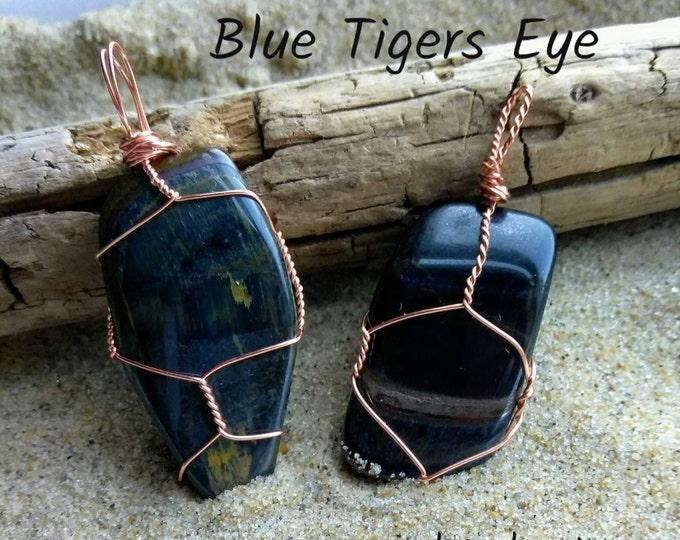 Blue Tigers Eye Pendant