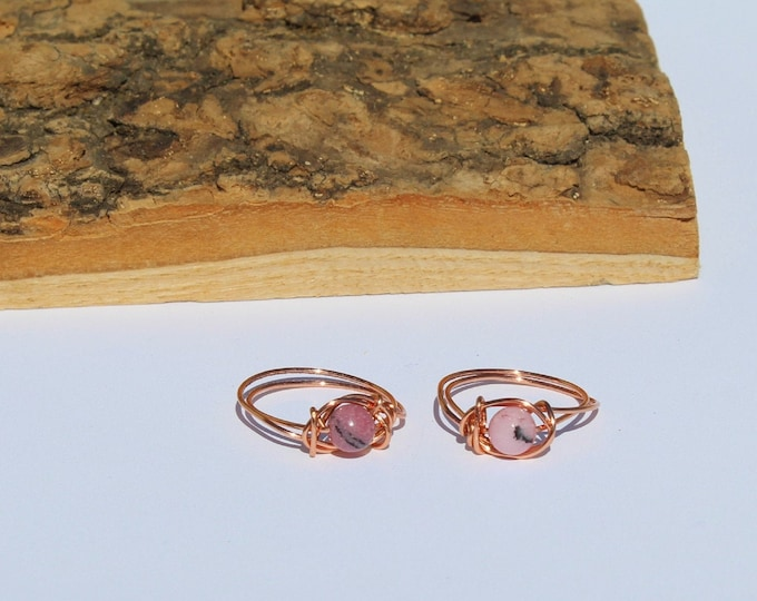 Rhodonite Wire Wrapped Ring