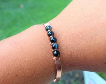 Blue Tigers Eye Bracelet