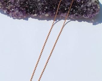 Copper ball chain, 2mm copper ball chain