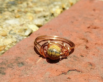Picture Jasper Wire Wrapped Ring