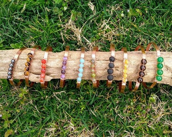 Gemstone Bracelets, Crystal Bracelet, Wire wrapped Bracelet, Copper Wire & Gemstone Bracelet, Crystal Jewelry, Healing crystal bracelet