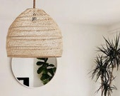 Natural Rattan Pendant Light,Boho Woven Lamp Shade,Wicker Hanging Lamp,Ceiling Light Shade,Vintage Chandelier,Handmade Lampshade
