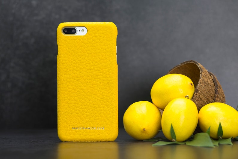 apple iphone 8 case leather yellow