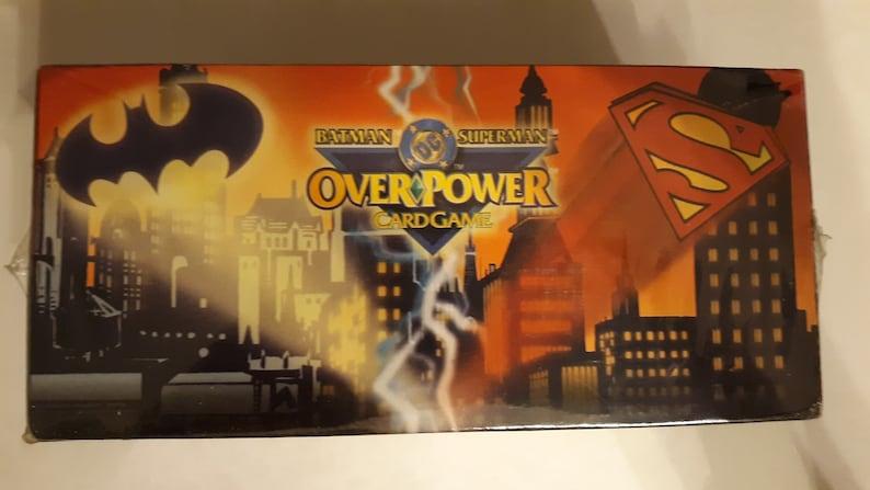 1996 OverPower Batman Superman 12 Deck Starter Case shrink wrapped