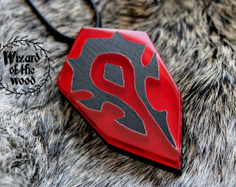Wow classic,world of warcraft,Horde  Necklace,warcraft vanilla,wow accessories,horde symbol,Wow gift,Warcraft gift,Wow gamer gift