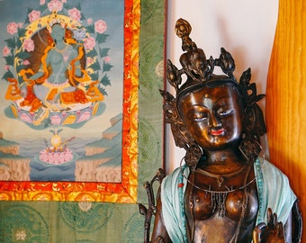 Standing Tara Murti Photograph, Ma Shrine, Shoshoni Yoga Retreat