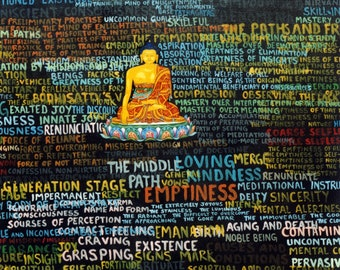 Seed Syllable by Karma Phuntsok, Thangka Art, Contemporary, Buddhist art, Tibetan Art, Karma