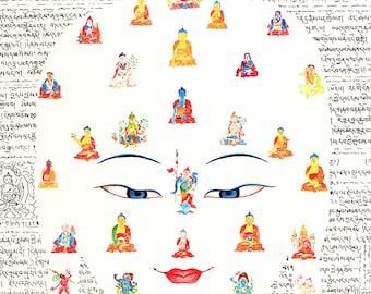 Deities by Karma Phuntsok, Buddhist Contemporary Art, Tibetan Art