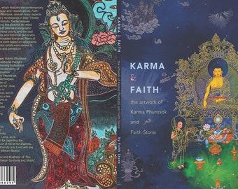 E-Book Karma-and-Faith.epub, the Artwork of Karma Phuntsok and Faith Stone, digital, paintings and woodblocks, Contemporary Buddhist Art,
